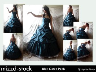Blue Gown Pack by mizzd-stock