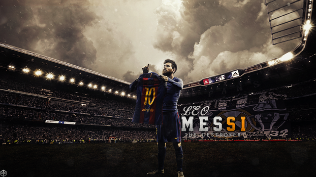 Messi The Destroyer by Akgfx7