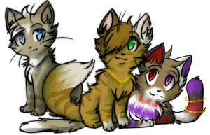 Birchy Trace and Kalei Chibi PC by StarryEvening