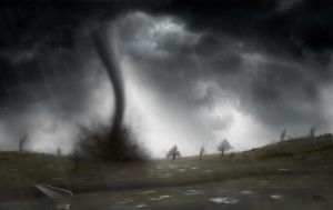 Matte Painting - Tornado by OffbeatWorlds