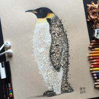 Penguin Doodle Art by VinceOkerman