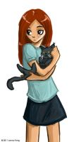 the girl and the cat by jfong