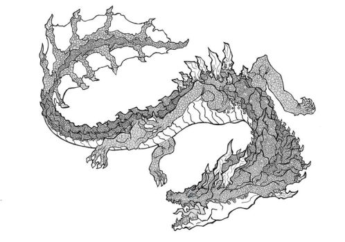 Lagiacrus Lineart by Denitzzz