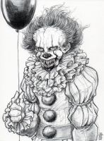 Do you want a balloon too? Pennywise Fanart by DandyAngelicaVannini