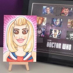 Rose Tyler marker sketch card