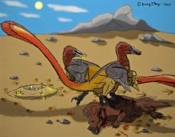 Beasts of the Mesozoic: Velociraptor mongoliensis by Saberrex