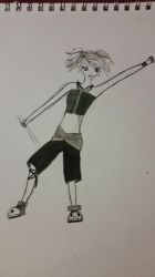 A sneek peek at a crazy character named : Anarchy! by missjinxtrickster