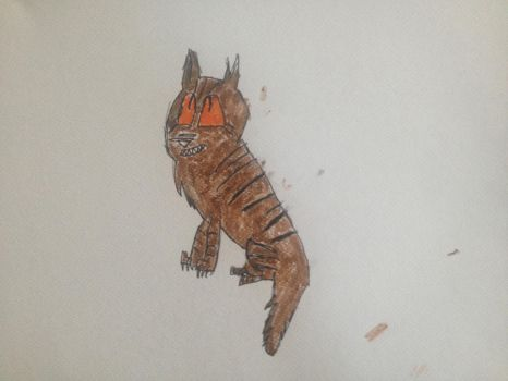 Tigerstar with watercolour  by DehketchupArceus