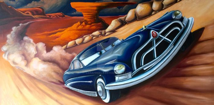 Doc Hudson Racing Painting by SarahMiele