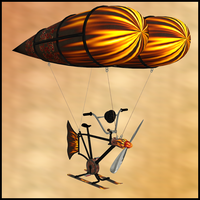 Anti Gravity Flying Machine 5 by Stock-by-Dana