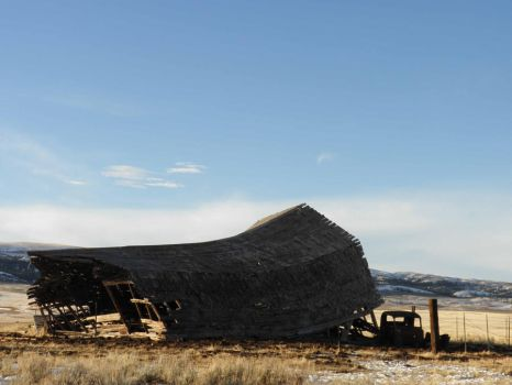 Collapsed Barn by BookWeaver