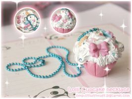 Lolli Cupcake necklace by Fluffntuff