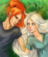 Harry Potter ~Bill and Fleur by zarin-a