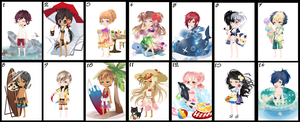 Free Wta Adoptables Beach Batch  {OPEN} by faeryhond