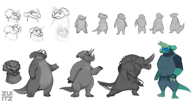 Dino Concepts by Zukitz