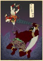 God of War ukiyo-e hereos by SeiKyo-Art