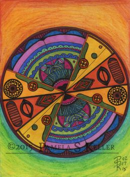 A tribalistic sort of mandala? by cybelemoon