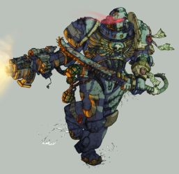 omg space marine by spoonbard