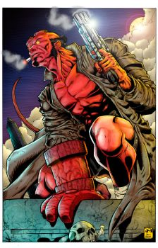 Hellboy Opposing Light Study by rtterry3225