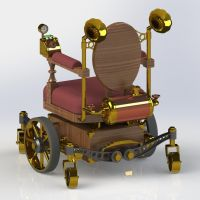 Steampunk Wheelchair Back by Dixbit