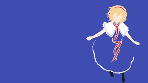 Touhou - Alice Margatroid minimalism wallpaper by Carionto