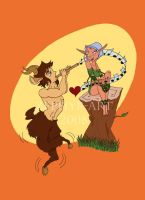 Faun and Elf by Zephyr-Art