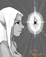 Some Drow Chick by bunnystick