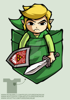 Pocket Link T-Shirt design by Purrdemonium
