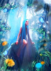 Fairy in the wood by Pierrick