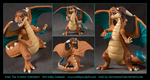 Commission : Axel, the Aviator Charizard by emilySculpts
