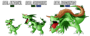 Fakemon: A001 - A003 - Alternate Grass Starter by DrCrafty