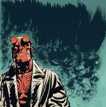Hellboy, color test by mxm91