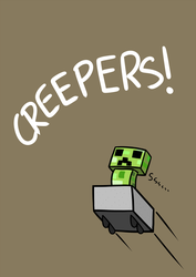 Minecraft: Creepers! by Purple-Neon