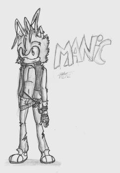 Manic the hedgehog by Checkerthehedgehog