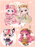 Simple Chibi Commissions by LaDollBlanche