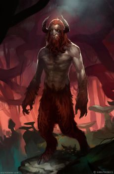 Dark Satyr by sketcheth