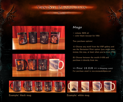 OFFER: Mugs - Fantasy Sci-fi Yaoi BDSM by Van-Syl-Production