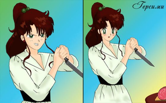 Sailor Jupiter and her knife by gersimy