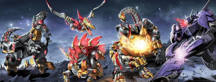 TF Rage of the Dinobots #1 to #4 cover colors by khaamar