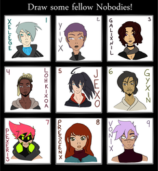 [OI] Draw some Nobodies pt 1 by SailorJager