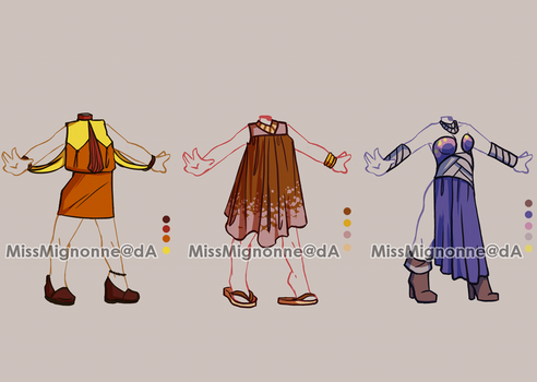 :OPEN: Outfit Adoptables 11 by MissMignonne