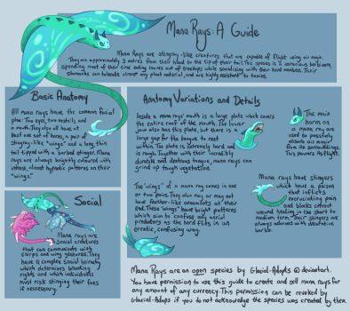 Mana Rays: A Guide (open species!) by Glacial-Adopts