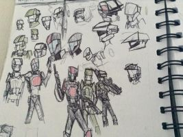 halo marine charactor doodles by Lambda-fallout125