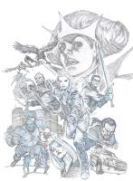 King's Road #1 (Dark Horse), cover art, pencil by StazJohnson