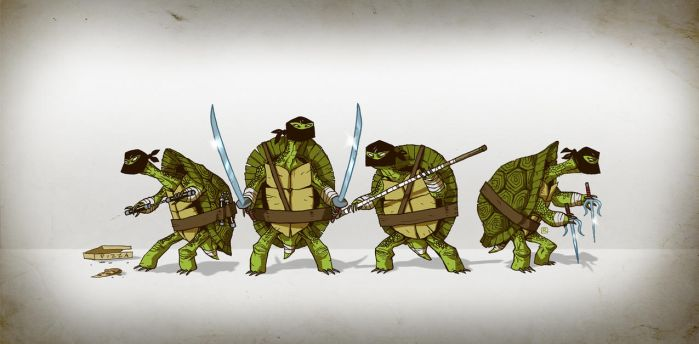 TEENAGE MUTANT NINJA TORTOISE by darrenrawlings
