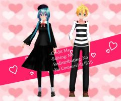 [MMD] TDA Renai Saiban/Love Trial Miku and Len DL by ZKArti