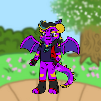 A Redesigned Dragondrian! (With A Name!) by KateTheRaccoon