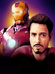 Ironman/Robert Downey Jr. by dragonsyth1