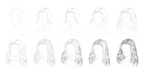 Tutorial - How to Draw Wavy Hair by tashamille