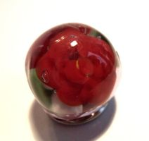 Valentines' red rose bead by fairyfrog
